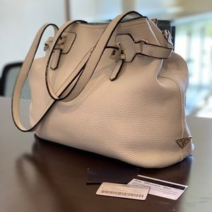 Prada Vitello Daino B Purse Bianco Calf Leather